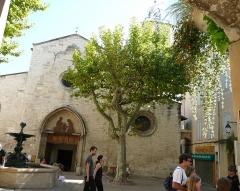 Eglise Saint-Sauveur - Français:   Façade et clocher de l\'église St Sauveur de Manosque