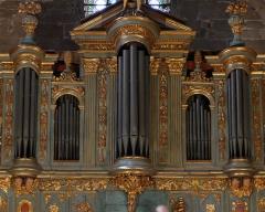 Eglise Saint-Sauveur - Français:   Montre de l\'orgue Meyssonnier_Piantanida