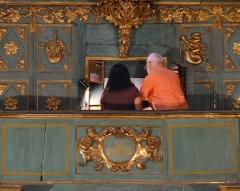 Eglise Saint-Sauveur - Français:   console de l\'orgue Meyssonnier_Piantanida
