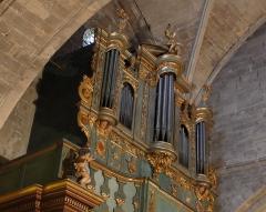Eglise Saint-Sauveur - Français:   Vue de côté de l\'orgue Meyssonnier_Piantanida