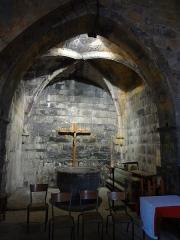 Eglise -       This file was uploaded  with Commonist.  église Notre-Dame-de-Nazareth de Seyne, Alpes-de-Haute-Provence. Bénitier en marbre, XVIIe, classé