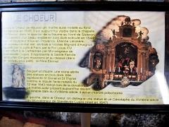 Ancienne cathédrale Notre-Dame - Informations sur le chœur de la cathédrale de Sisteron