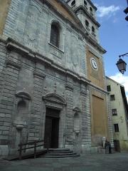 Eglise paroissiale Notre-Dame, Saint-Nicolas (ancienne collégiale) - English: Church facade of Collégiale Notre-Dame, Briançon