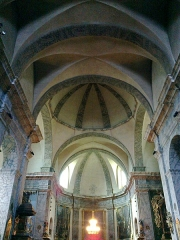 Eglise paroissiale Notre-Dame, Saint-Nicolas (ancienne collégiale) -  Hautes Alpes Briancon Collegiale Nef