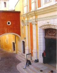 Eglise paroissiale, chapelle Saint-Esprit et tour Grimaldi - Lëtzebuergesch: D'Kierch vun Antibes.