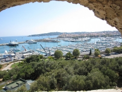 Fort-Carré - English: fort carré, antibes, france, view from bastion corsica of antibes and port vauban