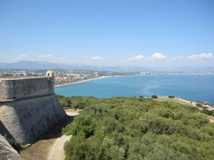Fort-Carré - English: fort carré, antibes , france, view from bastion corsica of bastion nice and Nice