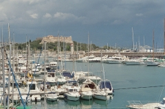 Fort-Carré - English: Port Vauban in Antibes with Fort Carré