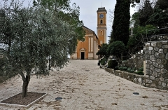 Eglise Notre-Dame de l'Assomption - English: Notre-Dame de l'Assomption, the church of the medieval village of Èze in the department of Alpes-Maritimes, France, was erected between 1764 and 1772. The architect was Antonio Spinelli.