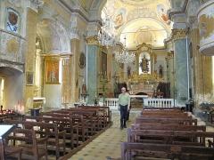 Eglise Notre-Dame de l'Assomption - English: Nave of the church Notre-Dame de l'Assomption in Eze (Alpes-Maritimes, France).