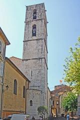 Cathédrale - Deutsch: Kathédrale Notre-Dame-du-Puy von Grasse, Glockenturm mit Chor von NO