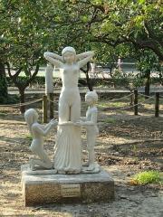Propriété dite Le Palais Carnoles -  Statue in the Jardin du Palais Carnolès, Menton, Alpes-Maritimes, France.