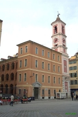 Caserne Rusca -  Nice-Vieille ville   L'ancienne caserne Rusca, devenu Palais Rusca, extension du palais de Justice