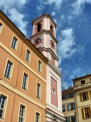 Caserne Rusca - English: Tower of the Palais Rusca, Place du Palais, Nice, France