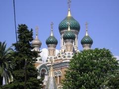 Cathédrale orthodoxe Saint-Nicolas et chapelle du tsarévitch Nicolas Alexandrovitch - Italiano: Questa foto rappresenta la chiesa russa di Nizza, è stata scattata da me, G. Salluzzi ad aprile 2007 ed è rilasciata in Pubblico Dominio