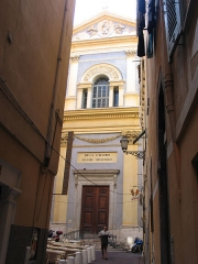 Eglise Saint-Jacques-le-Majeur dite du Gésu -  Façade de l'église du Gésu (Jésus) dans le vieux Nice
