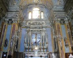 Eglise Saint-Jacques-le-Majeur dite du Gésu - Français:   Rue Droite dans le Vieux-Nice (Alpes-Maritimes), église St Jacques-le-Majeur, le choeur.