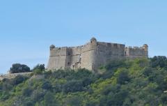 Fort du Mont-Alban - Français:   Le Fort du Mont Alban à Nice, faces est et nord au printemps
