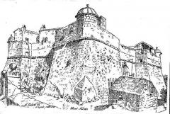 Fort du Mont-Alban - Français:   Le fort du mont Alban dessiné par Rion dans le quotidien \