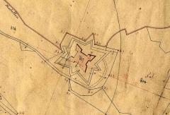 Fort du Mont-Alban - Français:   Le fort du Mont Alban situé dur le plan cadastral de 1872.