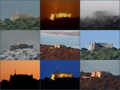 Fort du Mont-Alban - Français:   Montage d\'images du Fort du Mont Alban à Nice au travers des saisons.