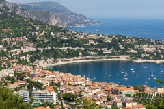 Fort du Mont-Alban - English: Villefranche-sur-Mer from Mont Alban