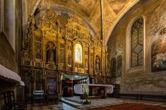 Monastère franciscain de Cimiez - Français:  Chœur de l'église du monastère de Cimiez, Nice (France).