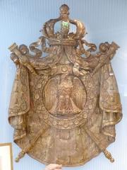 Musée Masséna - Français:   Nice (Alpes-Maritimes, France), sur la promenade des Anglais, la Villa (palais plutôt) Masséna, siège du musée du même nom. Grandes armes de Napoléon III.