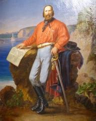 Musée Masséna - Nice (Alpes-Maritimes, France), sur la promenade des Anglais, la Villa (palais plutôt) Masséna, siège du musée du même nom. Joseph Garibaldi par le peintre niçois Carlo Garacci (1818-1895).