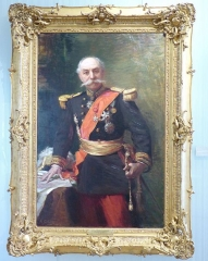 Musée Masséna - Nice (Alpes-Maritimes, France), sur la promenade des Anglais, la Villa (palais plutôt) Masséna, siège du musée du même nom. Portrait du général François Goiran en 1913, maire de Nice de 1912 à 1919, par Massimiliano Gallelli.