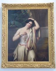 Musée Masséna - Nice (Alpes-Maritimes, France), sur la promenade des Anglais, la Villa (palais plutôt) Masséna, siège du musée du même nom. L'Almée par Édouard Henri Théophile Pingret (1786-1869) en 1849.