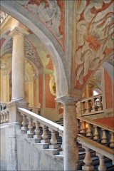 Palais Lascaris - English: The staircase of the palais Lascaris in Nice, France.