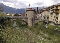 Vieux pont et tour qui le surmonte - English:   Sospel-PonteVecchio