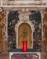 Eglise - Français:   La Turbie (Alpes-Maritimes, France), église St Michel-Archange, intérieur; tabernacle du maître-autel.