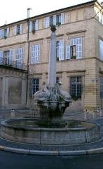 Fontaine des Quatre-Dauphins - English: Fontaine-des-Quatre-Dauphins in Aix-en-Provence.