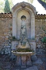 Pavillon de Vendôme (ou de la Molle) - Deutsch: Brunnen im Garten des Pavillon Vendôme in Aix-en-Provence