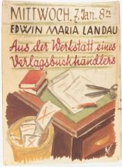 Tuilerie des Milles, ancien camp d'internement - Deutsch: Emmanuel Kirz Edwin Maria Landau Aus der Werkstatt eines Verlagsbuchhändlers