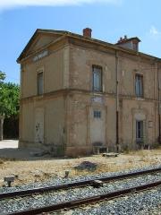 Tuilerie des Milles, ancien camp d'internement -  Les Milles, Bahnhofsgebäude, von dort aus fuhr der Viehwaggon zum Abtransport der Juden
