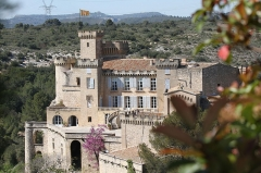 Château - English: The castle of La Barben seen from the zoological park (Bouches-du-Rhône, France)