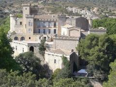 Château - English: Castle of La Barben (Bouches-du-Rhône, Provence-Alpes-Côte d'Azur, France), seen from the zoo.