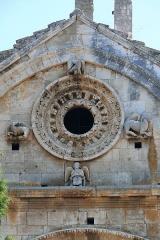 Chapelle et Tour Saint-Gabriel - Deutsch:   Rundfenster in der Westwand der Kapelle St.Gabriel