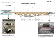 Aqueduc antique (restes de l') - essai de restitution par Vito Valenti