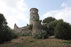 Vestiges du château -  Template:Chateau, Grimaud, France