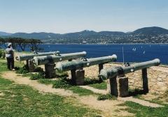 Citadelle - English: Cannons of the Saint-Tropez Citadel, Saint-Tropez, Var département, France