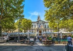 Hôtel de ville - English: Avignon Palace Cafe Outdoor Provence European