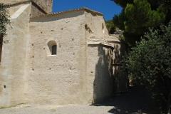 Chapelle de Notre-Dame-d'Aubune - Français:   France - Vaucluse - Beaumes-de-Venise - Notre-Dame d\'Aubune (art roman provençal): le chevet
