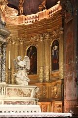 Ancienne cathédrale, puis église paroissiale Saint-Véran - Français:   Retable du chœur de la cathédrale de Cavaillon, partie droite avec toile de Nicolas Mignard représentant saint Véran et saint Louis