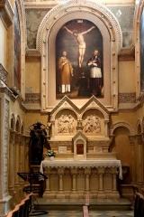 Ancienne cathédrale, puis église paroissiale Saint-Véran - Français:   Chapelle Saint-Joseph de la cathédrale de Cavaillon. Au dessus de l\'autel bas-relief représentant la sainte famille.