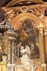 Ancienne cathédrale, puis église paroissiale Saint-Véran - Français:   Retable du chœur de la cathédrale de Cavaillon avec l\'Annonciation de Nicolas Mignard