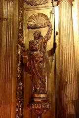 Ancienne cathédrale, puis église paroissiale Saint-Véran - Français:   Statue de saint Véran en pèlerin dans la chapelle qui lui est consacré dans la cathédrale de Cavaillon